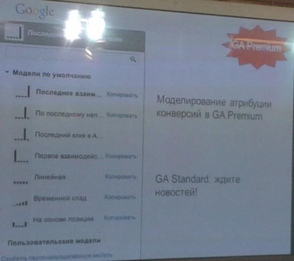 Модели атрибуции конверсии Google Analytics